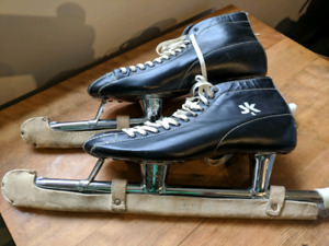 Ladies vintage leather speed skates - Mint.