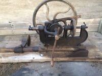 Antique drill press