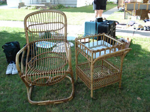 Chair and entertainment cart