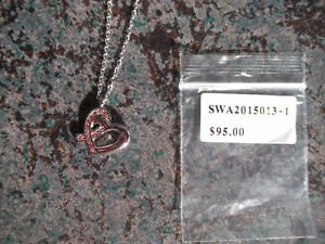 brand new, breast cancer awareness necklace,17.5 inches,