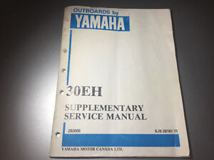 1987 Yamaha 30EH Outboard Service Manual 30 HP 2 Stroke 3 Cyl