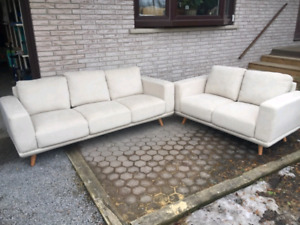 Like New! Fabric Sofa And Loveseat