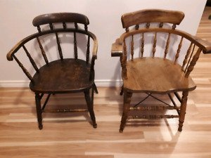 Antique Wooden Chairs from Old Halifax Courthouse