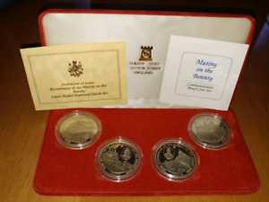 Bicentenary of the Mutiny on the Bounty 4-crown coin set