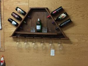 Handemade wine/glass rack