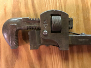 """antique pipe wrench Gray-Bonney 14"""""""