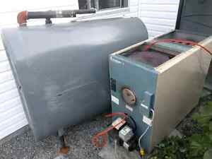 Oil furnace and tank