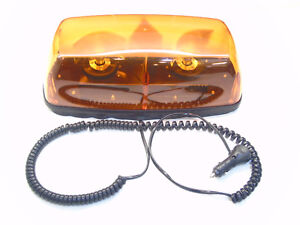 70W AMBER STROBE BEACON DUAL ROTATING LIGHTS & MAGNETIC BASE