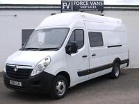 VAUXHALL MOVANO R4500 2.3CDTI MINIBUS CREW CAMPER MOTORHOME BAND DAY BUS VAN