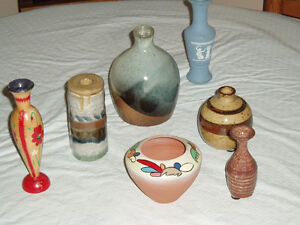 VASES - VARIOUS SMALL SIZES