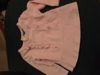 Gently used clothing for 6 months old baby girl and stuffed toys