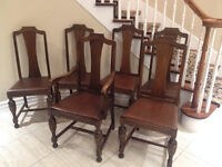 Set of 6 Antique chairs at $10 each