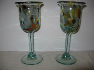 Hand made Art Glass Goblets London Ontario image 1
