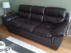 New Condition Bonded Leather Couches
