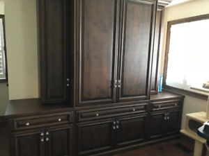 High end Bedroom dresser/TV built in