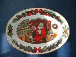 """Franklin Mint Platter """"The Night Before Christmas"""""""