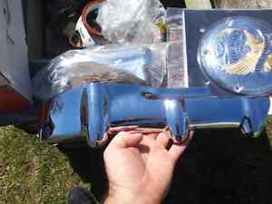 HARLEY ROCKER CYLINDER BASE CHROME COVER