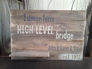 Solid wood sign Strathcona County Edmonton Area image 1