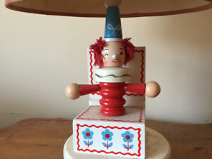 Vintage clown nursery lamp from 'Underwriters Laboratories Inc.'