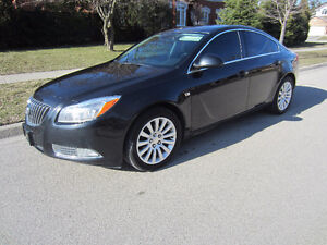 2011 Buick Regal CLX 4cly , Black with black leather < Safetied>