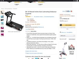 DK-19 Manual Incline Auto Lubricating Endeavour Treadmill.
