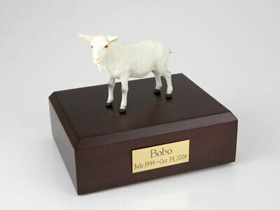 Goat White Figurine Wildlife Cremation Urn Available in 3 Diff. Colors & 4 Sizes ()
