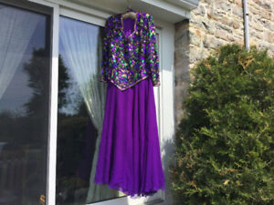 Sequined Dress - Grandmother of Wedding or Opera Gown