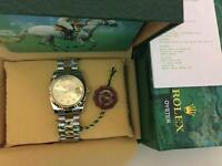 New Swiss Men's Rolex Oyster Day Date Perpetual Automatic Watch, golden dial