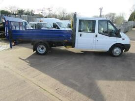 2012 Ford Transit 350 27k Double Crew cab lwb dropside pick up with taillift