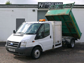 FORD TRANSIT T350 2.4 TDCi TIPPER DROPSIDE FLATBED CLEAN TRUCK WORK VAN PICKUP