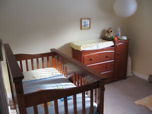 Crib and Change Table set