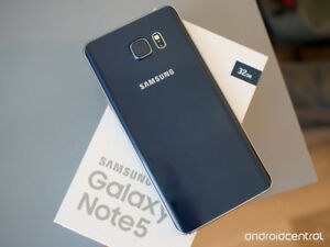 Unlocked-Samsung Galaxy Note 5, 32GB, Blue, 4 Cases, CAN Model