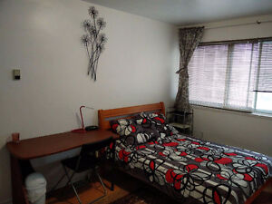 BRIGHT, LARGE, FURNISHED ROOM IN DOWNTOWN MONTREAL APARTMENT