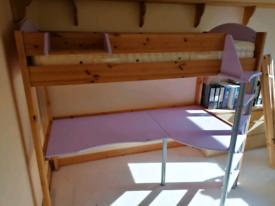 STOMPA STUDIO 90 HIGH SLEEPER BUNK BED AND DESK
