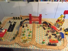 Wooden train set from ELC and Ikea