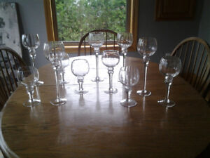 Stemmed Candle Holders - Total of 11