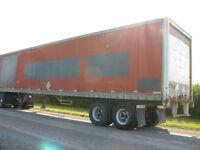 48' storage van trailer w/side door WILL DELIVER IF NEEDED.