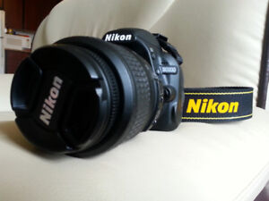 """Nikon D3100 DSLR Camera"" with 18-55 Lens, Strap, Accessories"