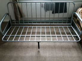 Grey Metal Futon Sofa Bed