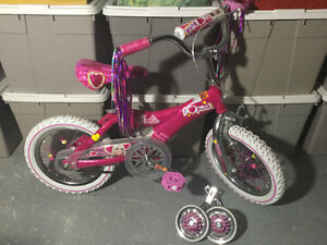 "Girls 12"" Pink Barbie bike $40 OBO"