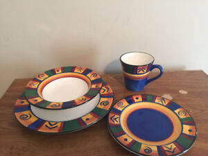 Hand Painted 16-Piece Dinner Set