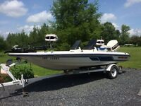 1992 17.6' Skeeter bass boat , 140 hp Johnson & trailer