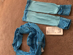 Aviva Lululemon kids- leg warmers and scarf  XS-S
