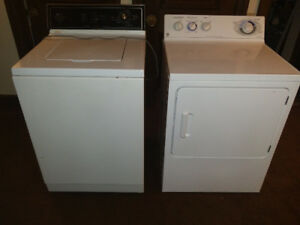 Whirlpool extra large washer and GE commercial quality dryer