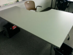 Corner Herman Miller Action Tables in Grey x2