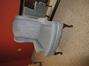 2 armed winged back chairs