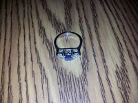 ***Beautiful Sapphire and Diamond AVON ring in silver***
