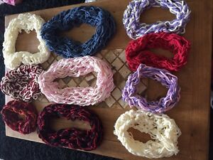 Hand Knitted Infinty Scarves