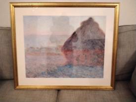 Gilt Framed Monet Print