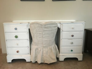 Cute shabby chic makeup desk and chair